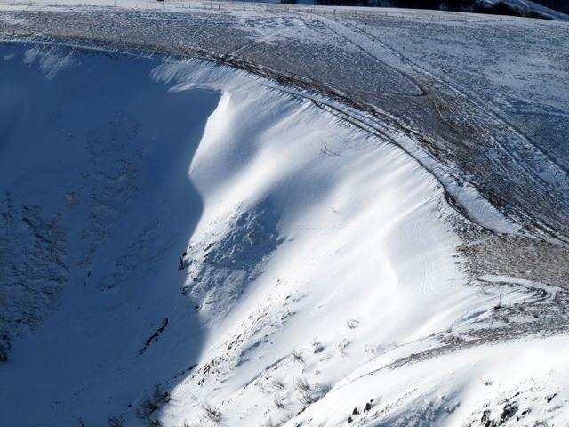 Haut du couloir du Wormspell. Sans doute skiable.
