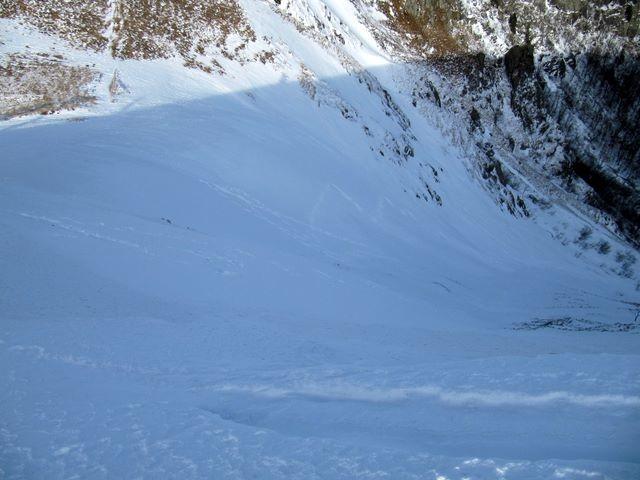 Couloir de Falimont, skié ce jour.