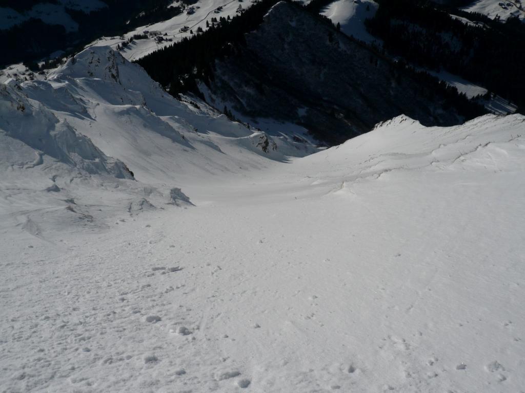 Belle neige en haut de la combe des Prés