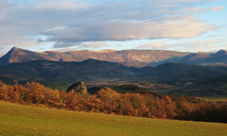 Montagne de Couspeau et Gd Delmas (W) depuis Roche Colombe