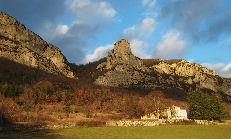 Roche Colombe et La Poupoune, au-dessus des Blaches