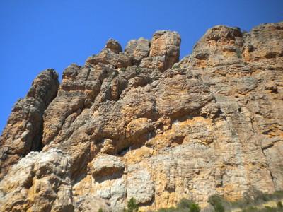 Le rocher unique des Arapiles