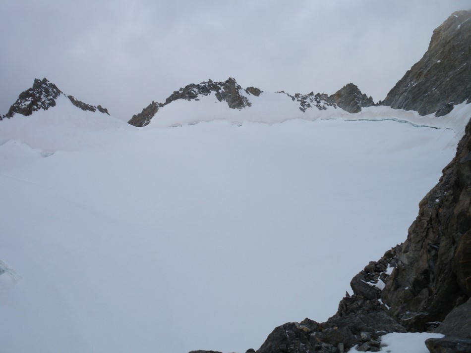 Plateau supérieur de glacier du Mt Blanc