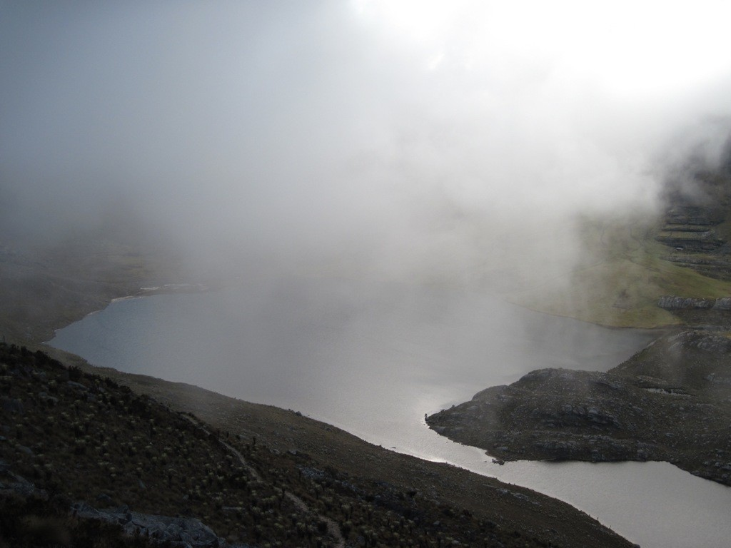 Laguna Grande de los Verdes, depuis los Frailes