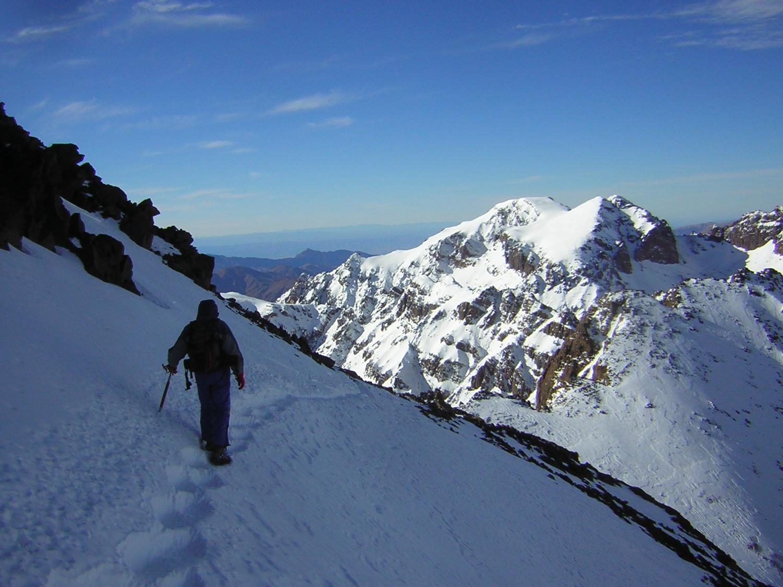 Descente du Djebel Toubkal