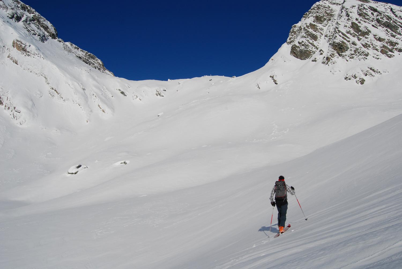 Verso la bocchetta di Val Furcela, con il tratto più ripido della salita  un poco più avanti di quì.