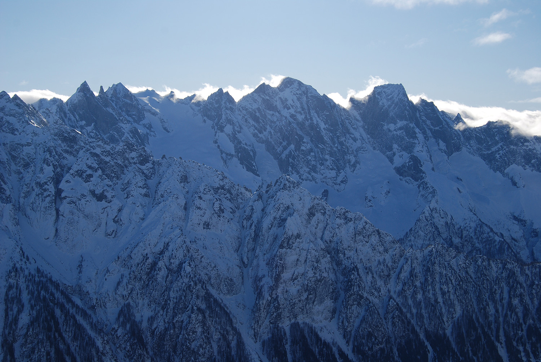 I giganti di granito visti dal Piz Cam 2634 m.
