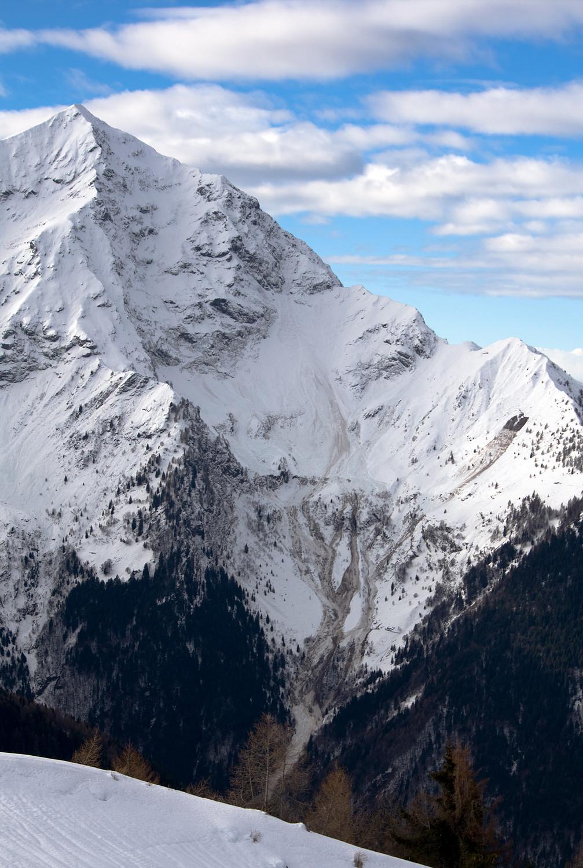 L'enorme valanga sul versante ENE del Monte Legnone (Val Lesina), Alpi Orobie.