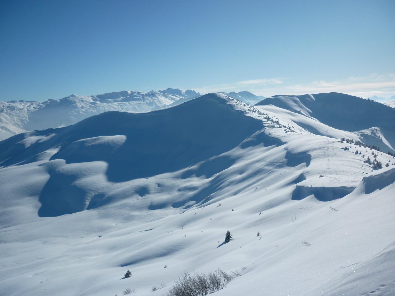 Point 2066 et Mont de Vorès (à droite)