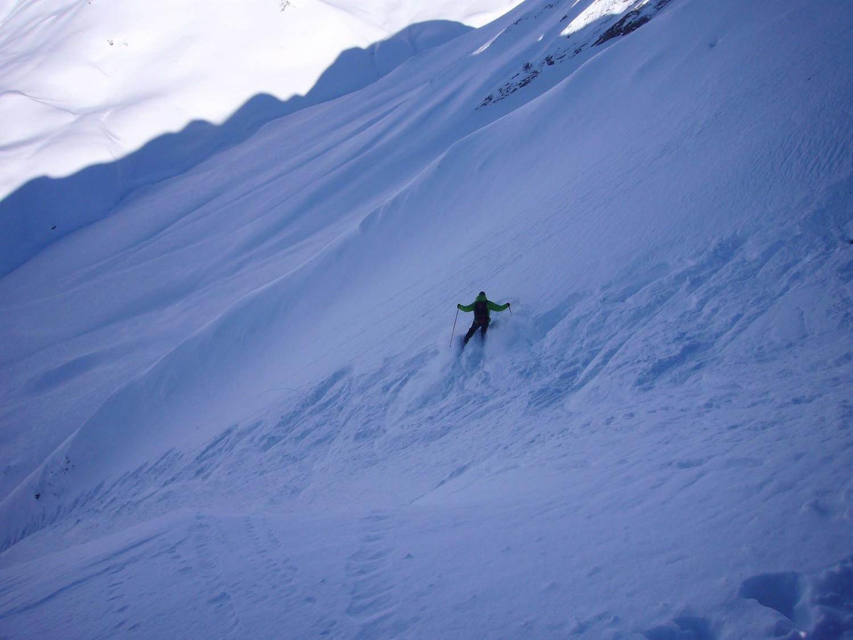 une neige profonde mais pas si facile