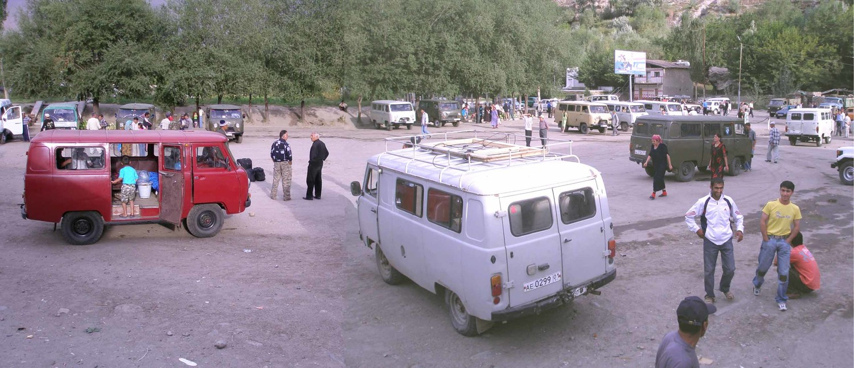 marschroutkas à Khorog