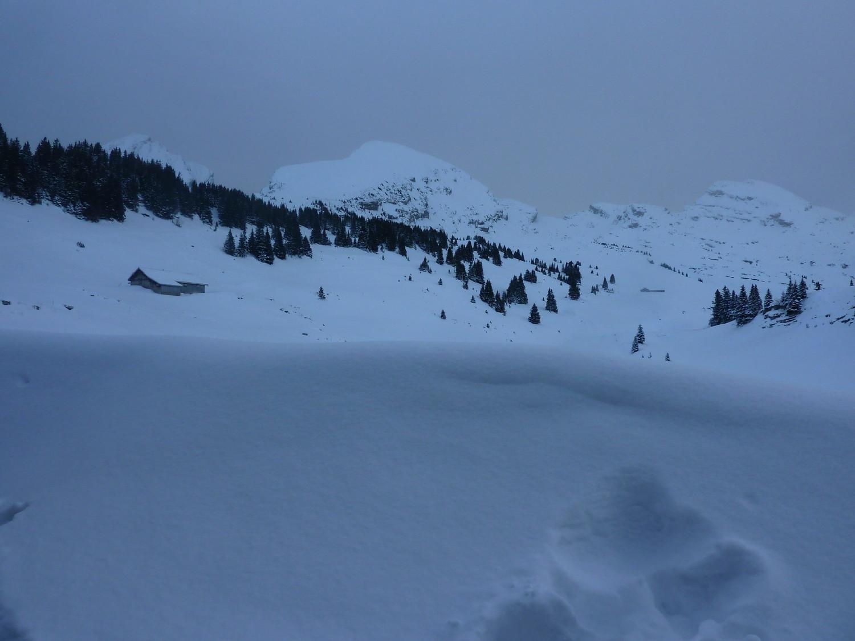 Panoramica sul Churfirsten con il Selun