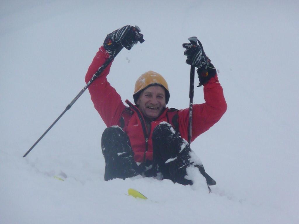 Pas facil de skier ds le jour blanc...