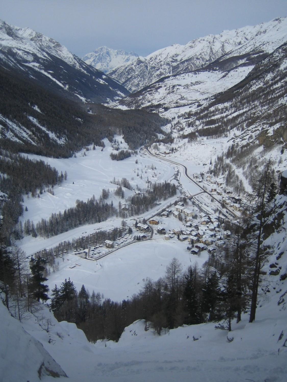 village de Lillaz  et le Mont Blanc