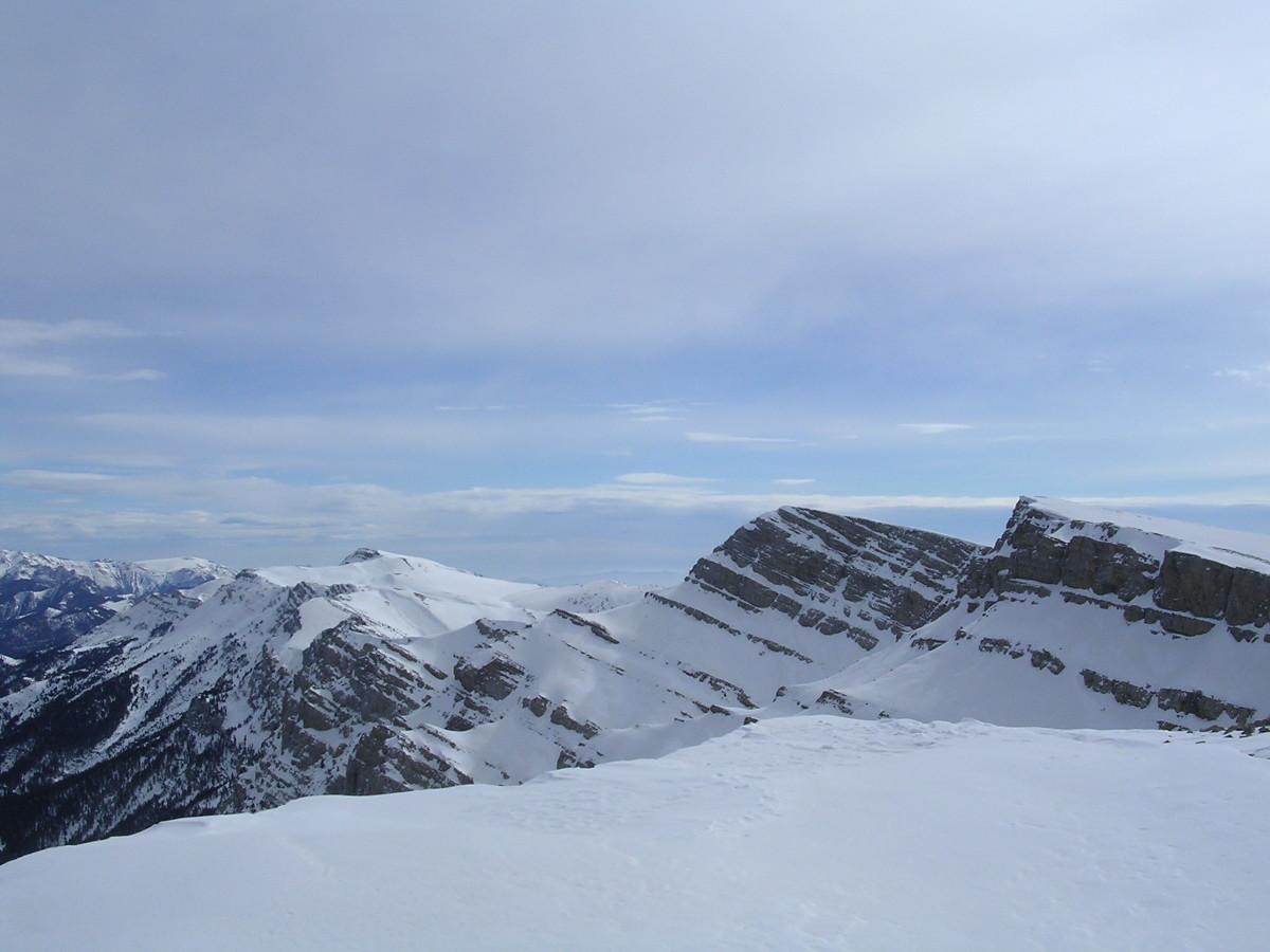 Le plateau, vue vers Puig Cristall