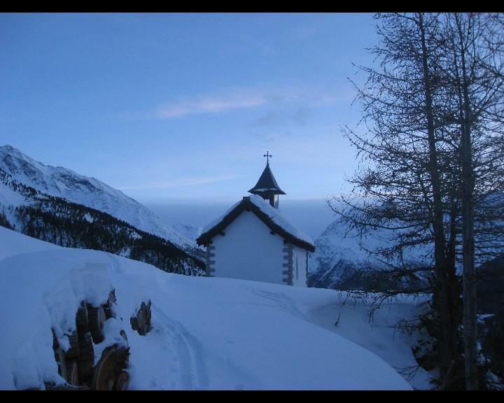 Chapelle de Heimischgartu le soir précédent