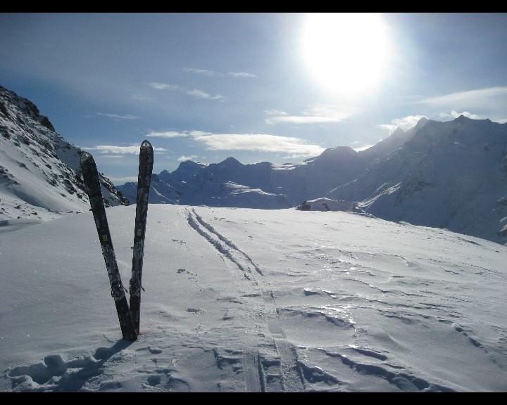 Du Sattel, vue sur les 4000 de Saas Fee