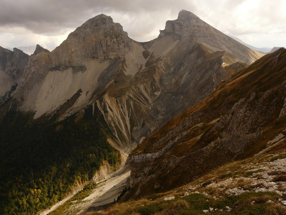 Roc et Tête de Garnesier - versant W