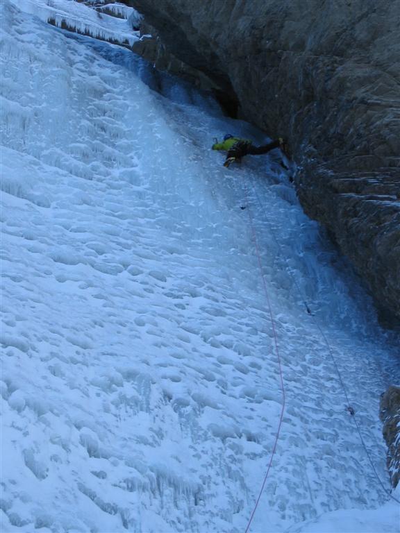 cascade du Dard : 1ère longueur