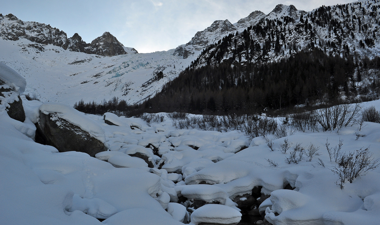 Sous le glacier du Trient