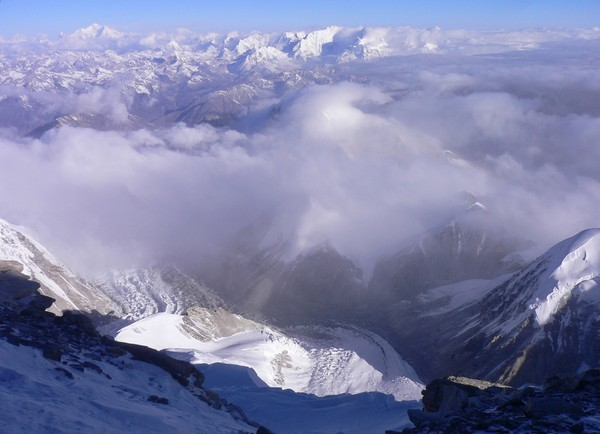Cho Oyu 8201m (Tibet) - belle vue vers Shisha Pangma