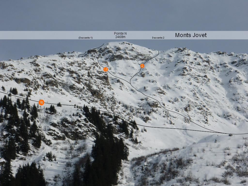 Jovet pointe N, couloir NW