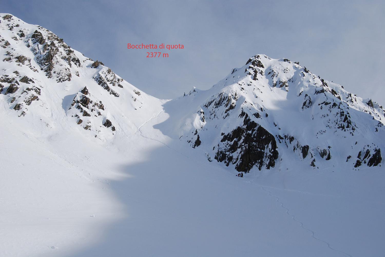 La bocchetta in cima alla Valle di Cuminello.