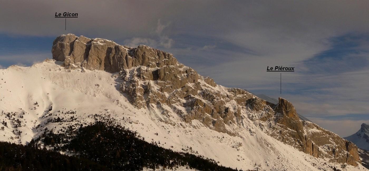 Montagne de St Gicon - Versant W