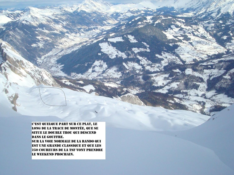 Localisation des trous depuis le sommet