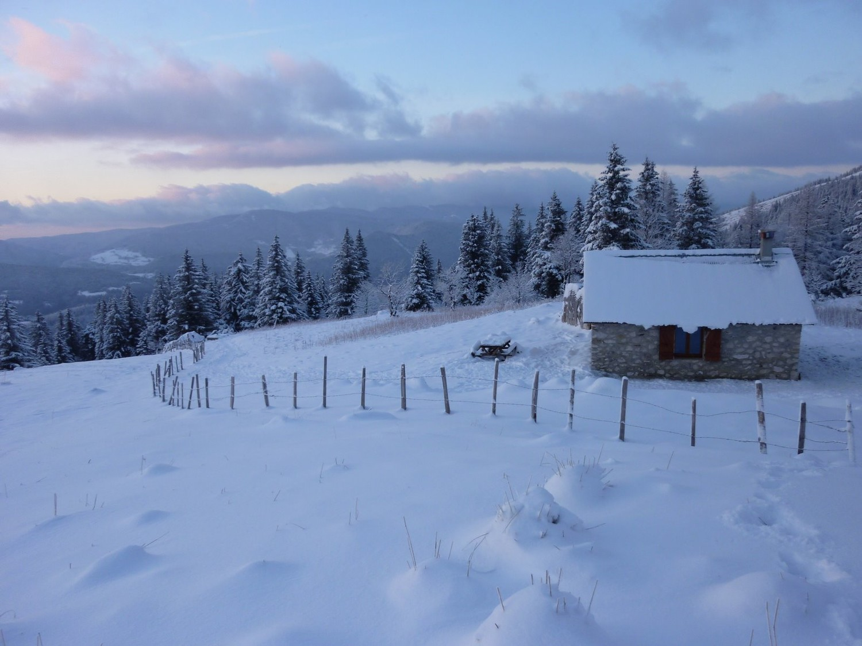 Cabane de Roybon, hiver