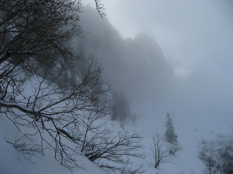 Teysachaux dans le brouillard