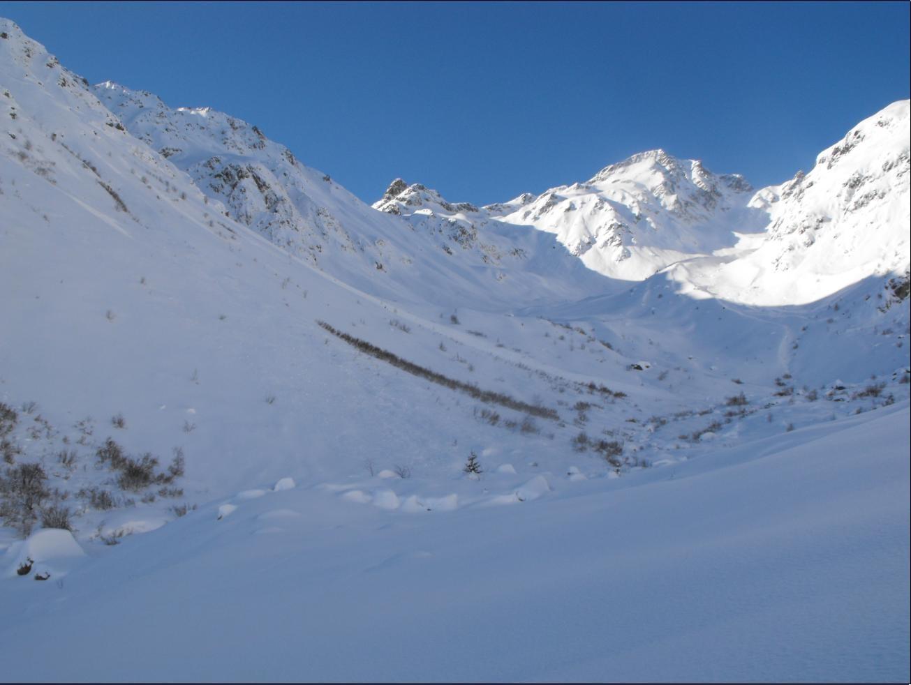 Vallon du Tepey, dominé par le Bec d'Arguille