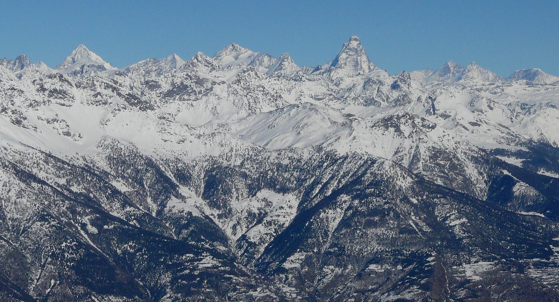 Panorama depuis le sommet côté Cervin