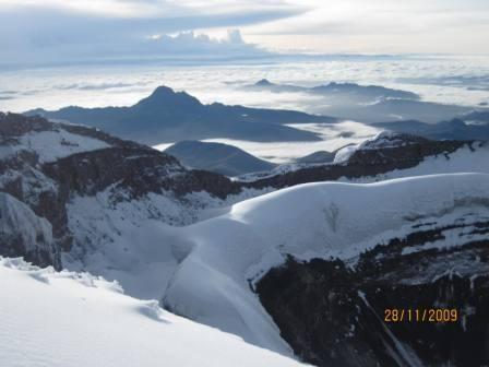 cratère sous le sommet -1