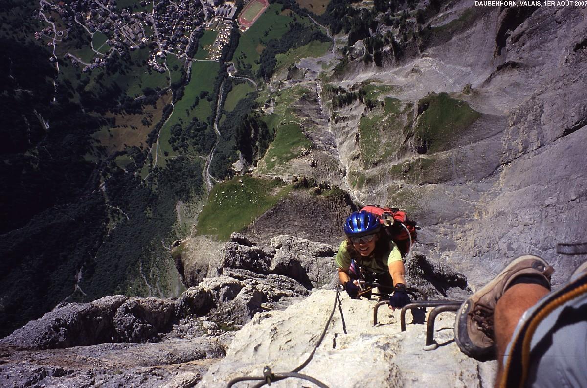 Via Ferrata du Daubenhorn : aérien ! Leukerbad 1000 mètres sous nos pieds