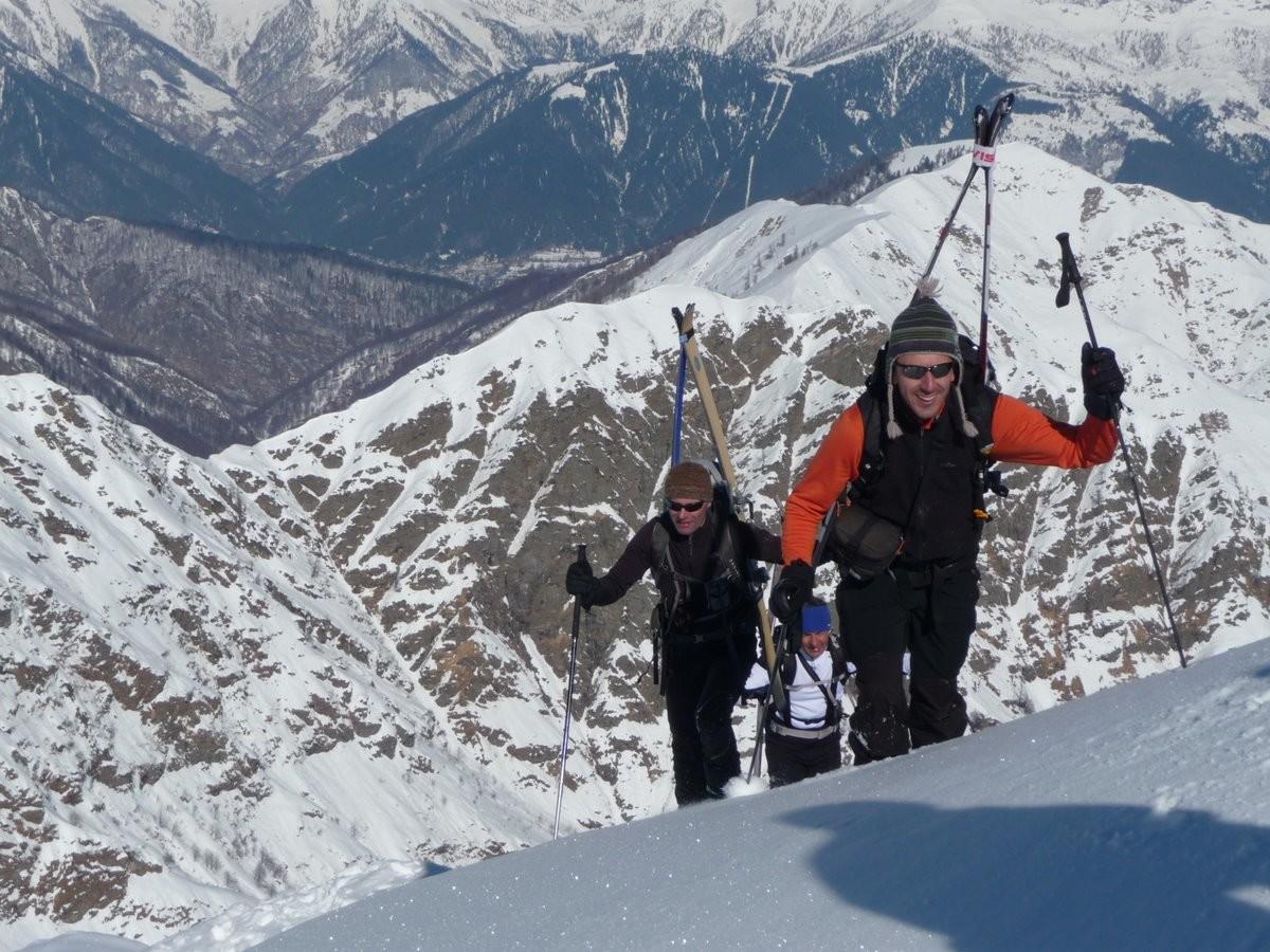 ...Marco,Gigi e Gianca arrivano in cresta....