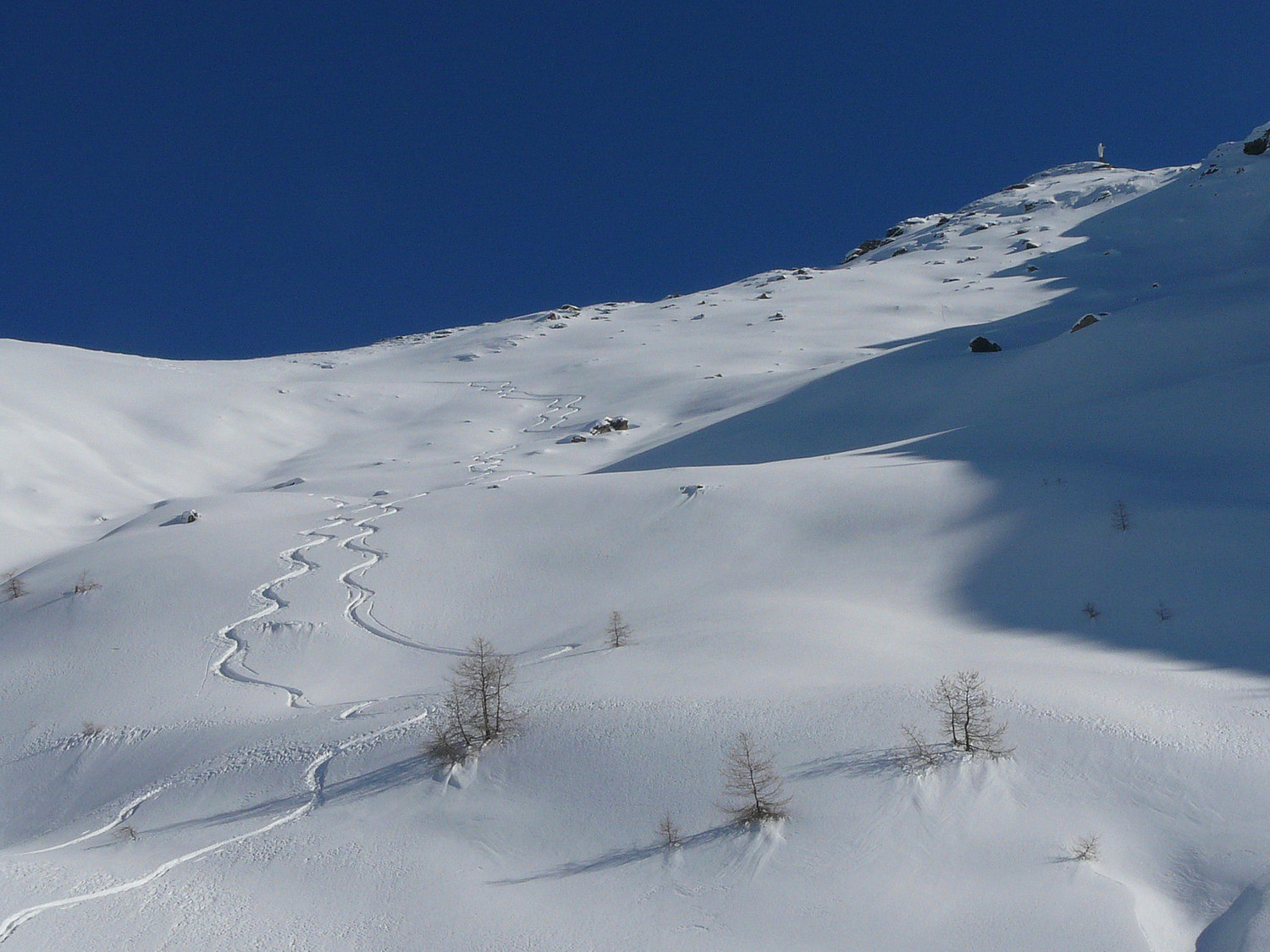Mont Zerbion (Val d'Aoste), combe NW