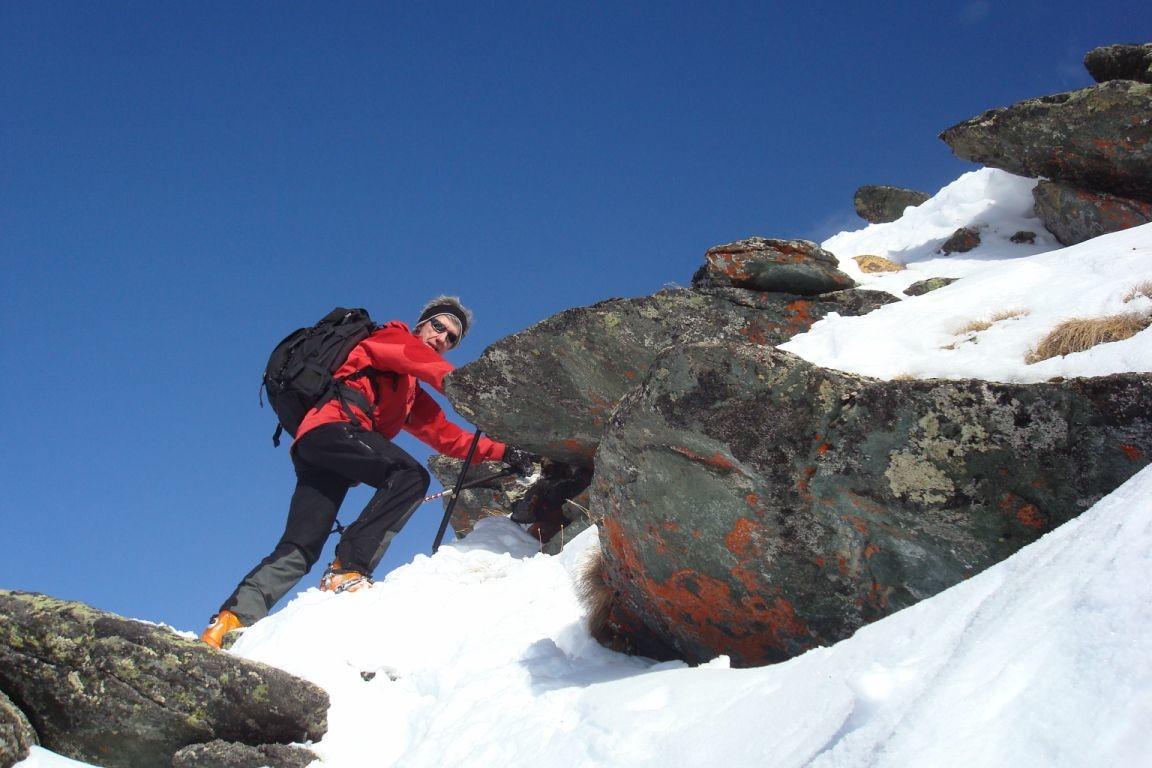 Notre chef peu avant le sommet