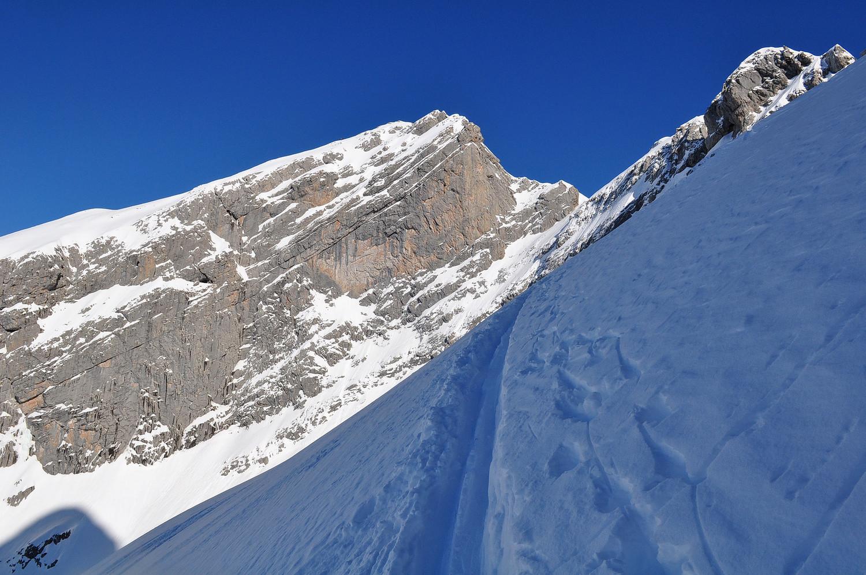 Trace au Col de Chombas
