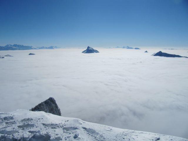 Mer de nuages à perte de vue