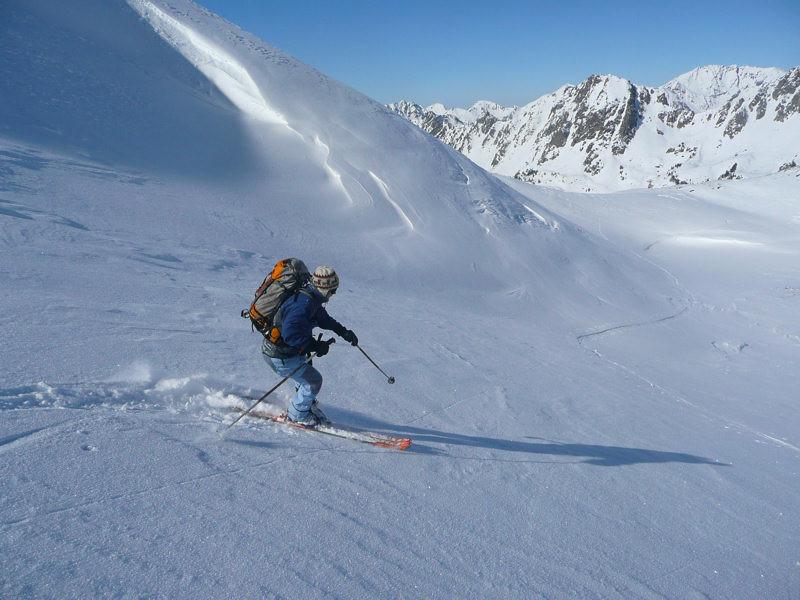 Debut de descente sous le sommet du Gourguet