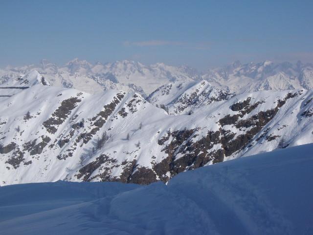 Panorama prima della cima