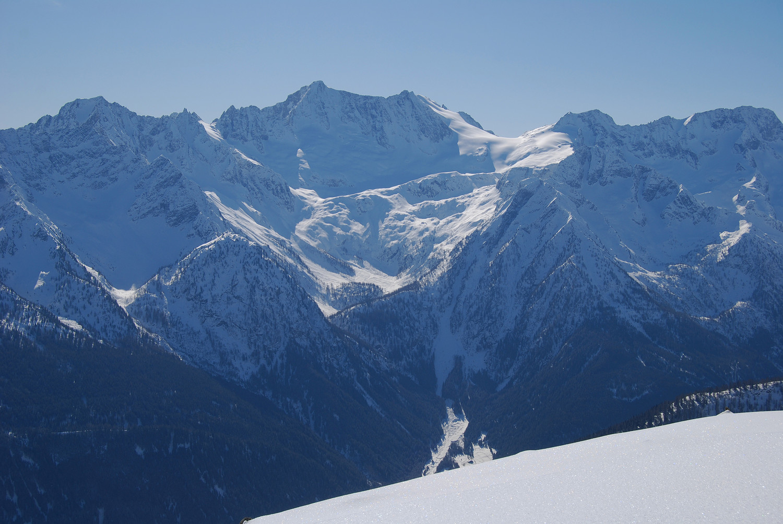 La Presanella 3558 m versante N, durante la discesa dalla Cima Boai 2685 m.
