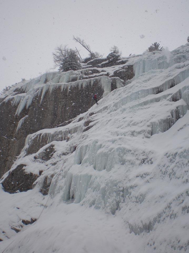 Vallon de Salles, grande cascade - Descente de L1