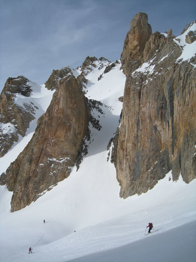 Seconde descente, du col NW des Heuvières