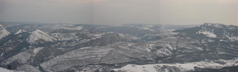 Les gorges du Verdon sous la neige.
