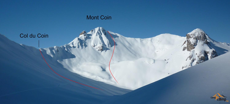 Topo : Mont Coin, versant NE