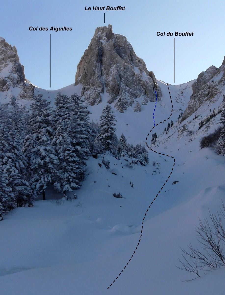 Col du Bouffet - versant W (itinéraire à ski)