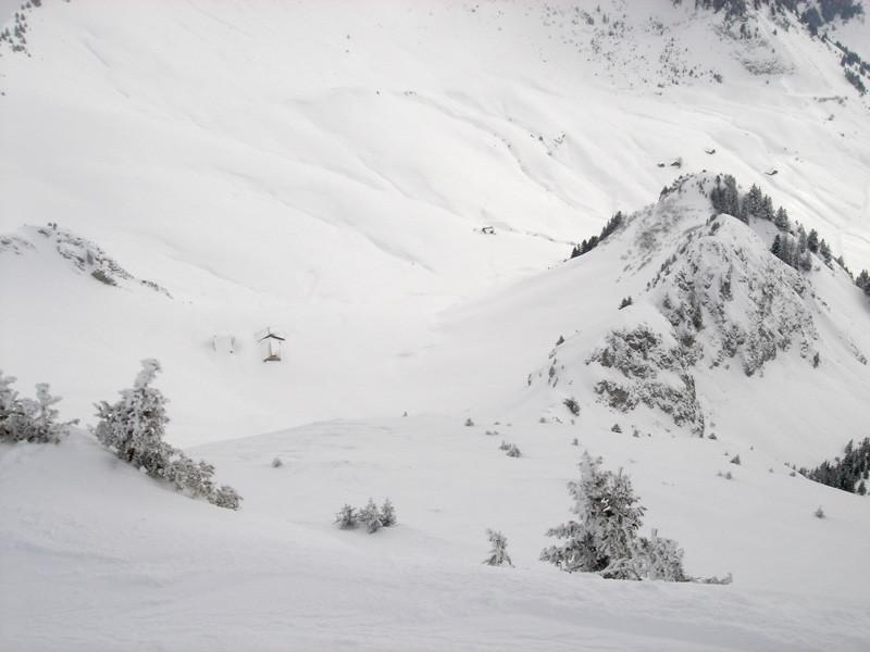 Descente vue du sommet