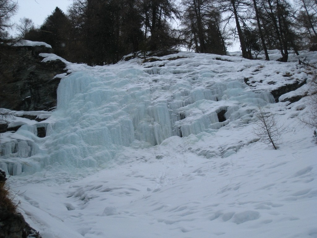 Cascade de Bouillet, Transition en neige et L4